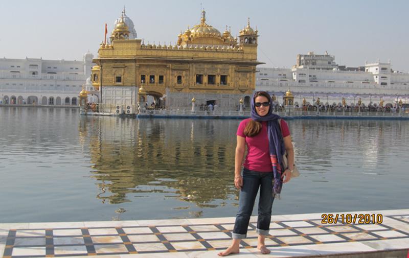 Florencia Costa at Golden Temple