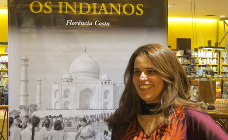 Florencia Costa at the launch of her book `Os Indianos' in Sao Paulo, Brazil.