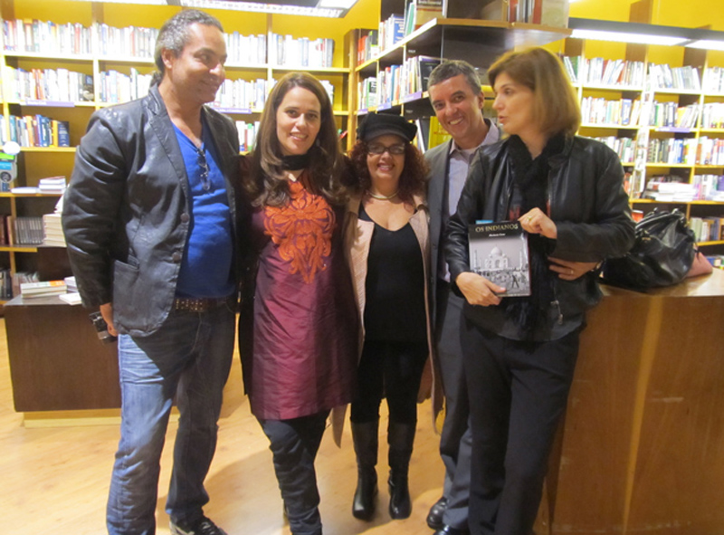Friends and colleagues join Florencia Costa at the launch of her book.