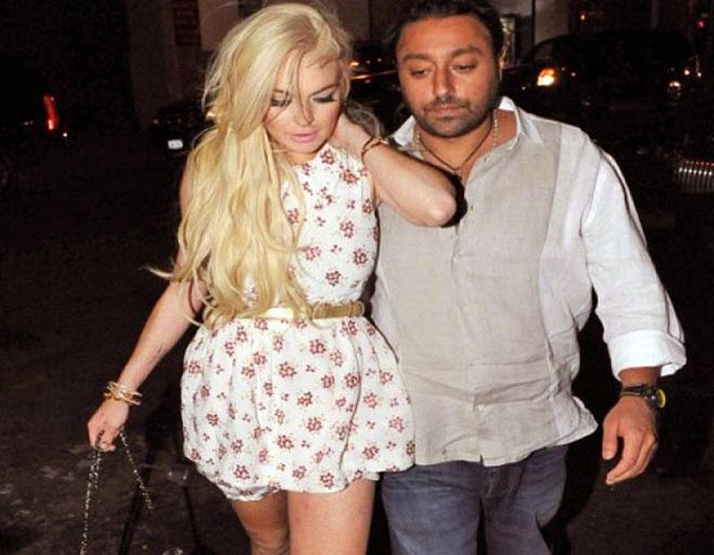 Vikram Chatwal with Lindsay Lohan
