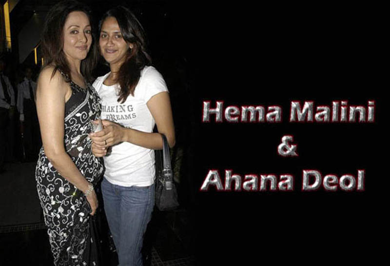Hema Malini with daughter Ahana