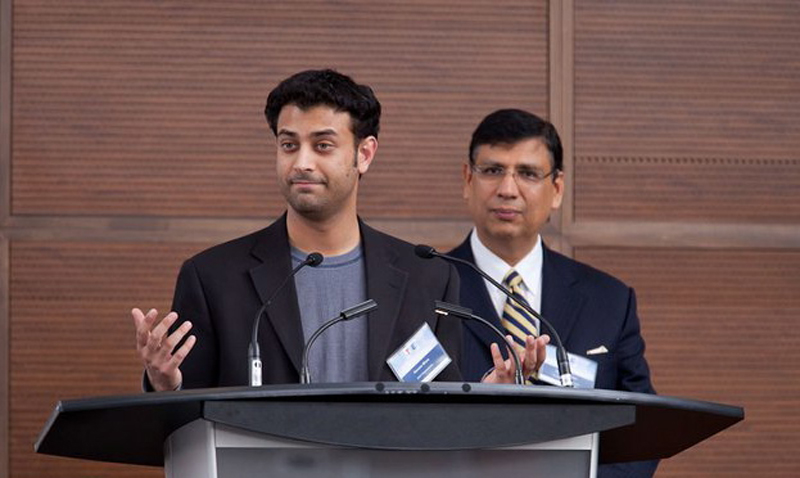 Haroon Mirza speaking at TiE Toronto event