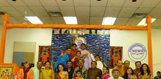 Nilesh Parmar (centre) with his fans at Shreenath Ji Haveli.