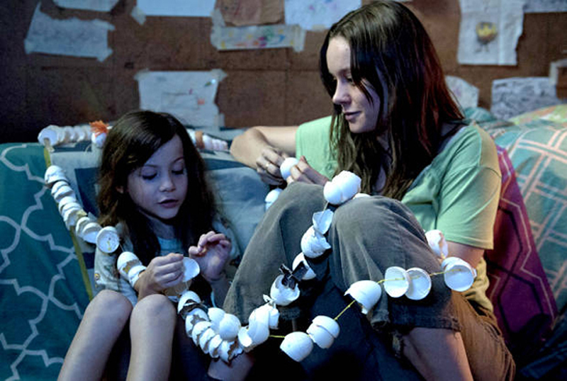 Jacob Tremblay and Brie in a scene from Room.
