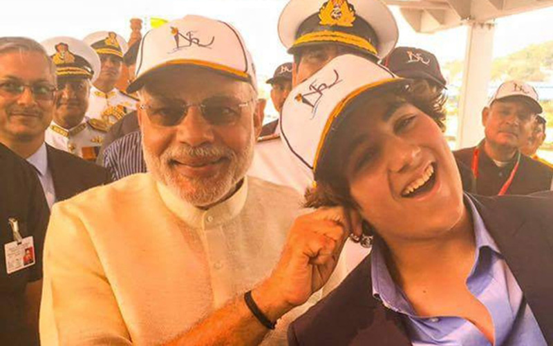 Modi with actor Akshay's son Aarav.