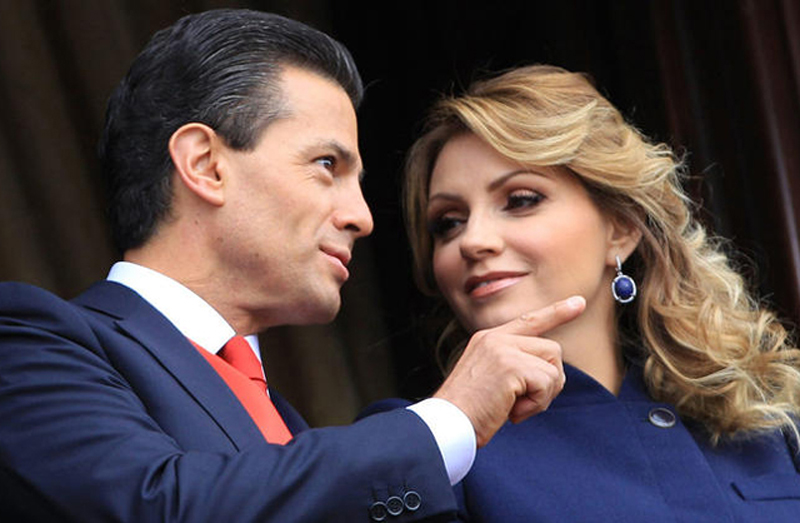 Mexico President Enrique Pena Nieto with wife Angelica Rivera Hurtado