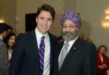Surjit Babra with Trudeau