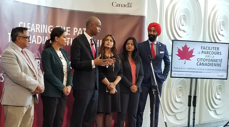 Ahmed Hussen speaks on target for new Canadian immigrants
