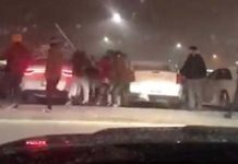 Brampton plaza brawl