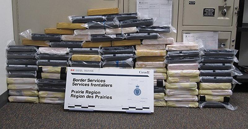 Bricks hiding cocaine seized by CBSA