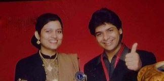 Ilyasi with wife