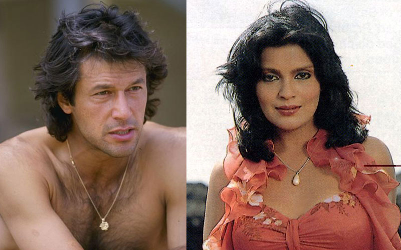Imran Khan and Zeenat Aman