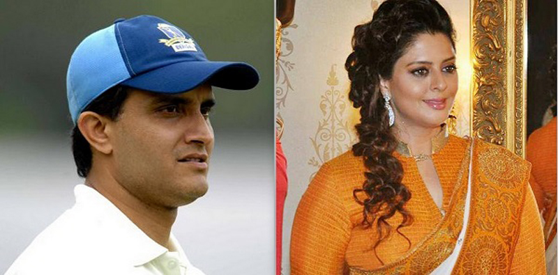 Nagma and Saurav Ganguly