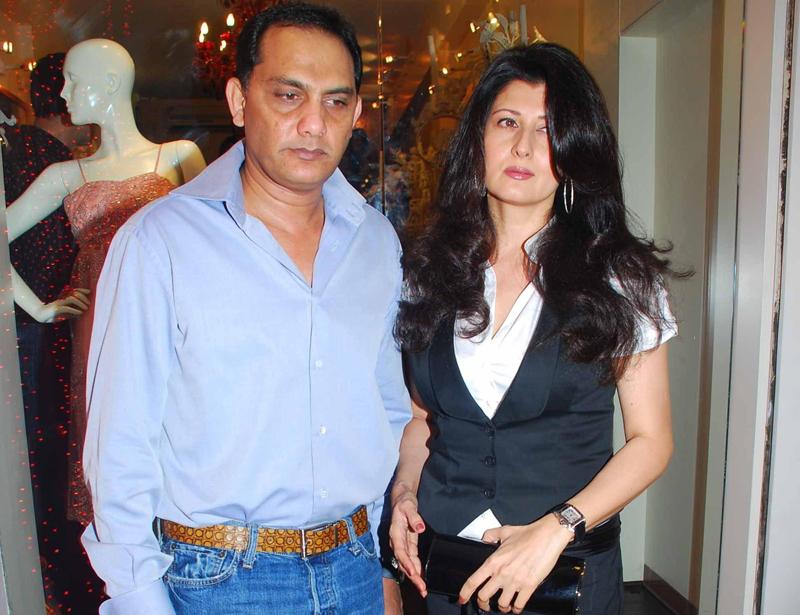 Sangeeta Bijlani and Mohammad Azharuddin