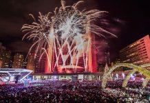 Toronto city fireworks