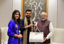 Virat Kohli and Anushka Sharma getting wedding gift from Prime Minister Narendra Modi