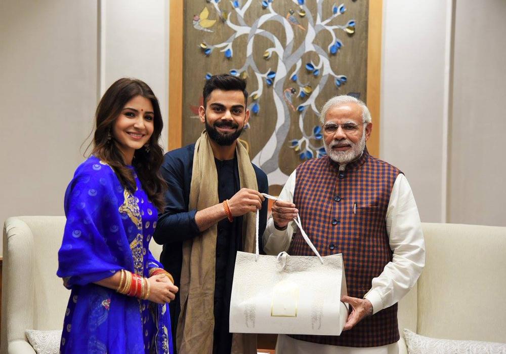 Virat Kohli and Anushka Sharma getting wedding gift from Prime Minister Narendra Modi