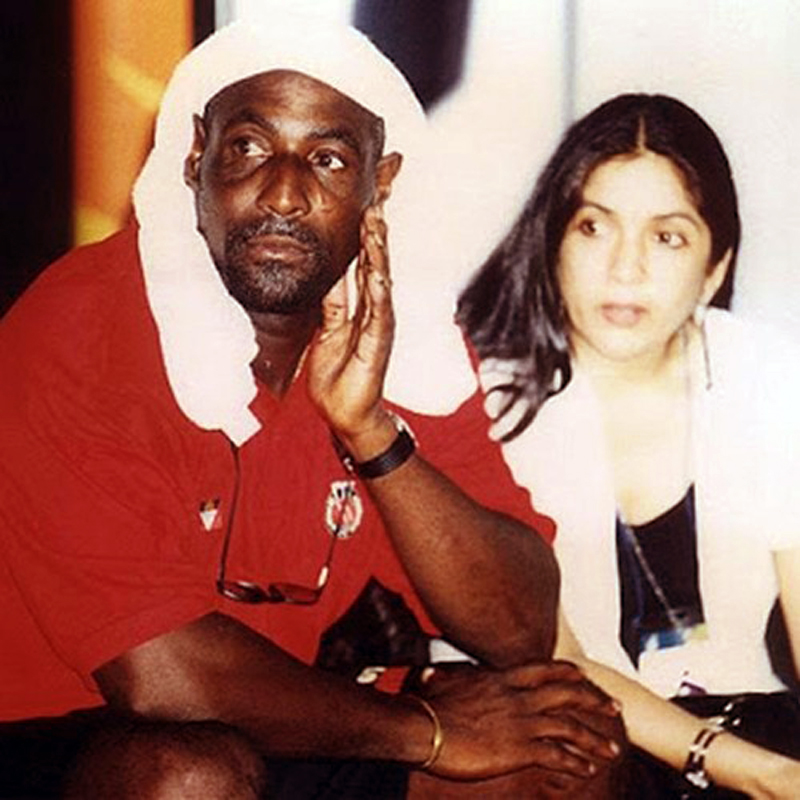 Vivian Richards with Neena Gupta