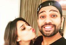 best batsman rohit sharma wife blows kiss