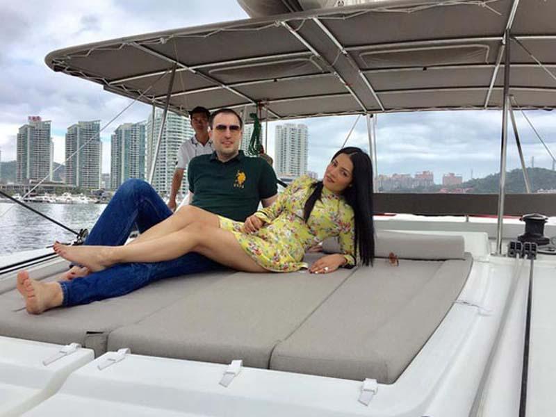 Celina Jaitley with husband Peter Haag