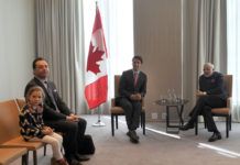 Ella-Grace Margaret seen during Trudeau's meetign with Modi in Toronto