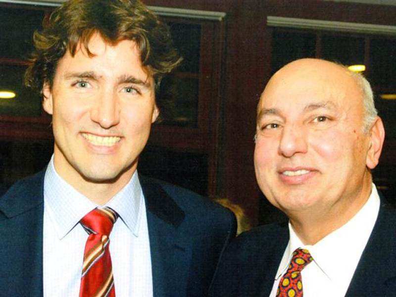 Herb Dhaliwal with Prime Minister Justin Trudeau