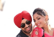 Monica Gill with Diljit Dosanjh in Ambarsariya