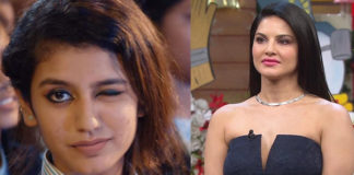Priya Prakash (left) beats Sunny Leone