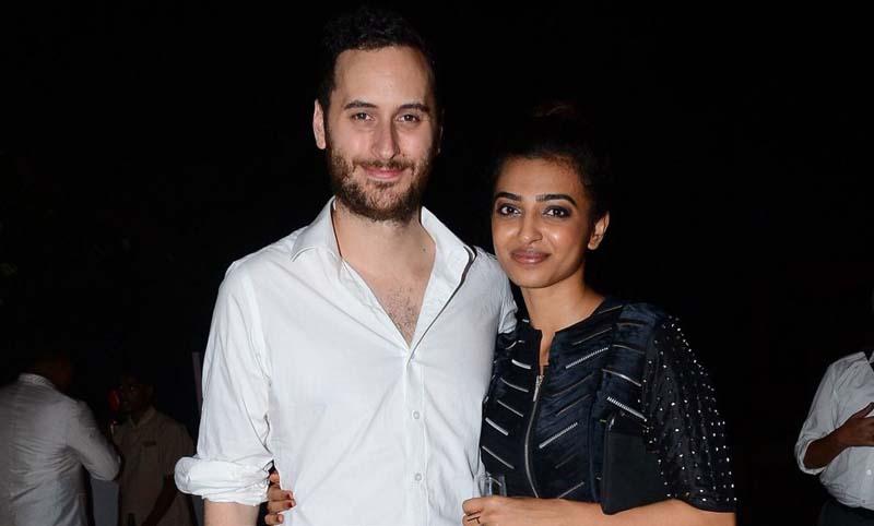 Radhika Apte with-husband Benedict Taylor