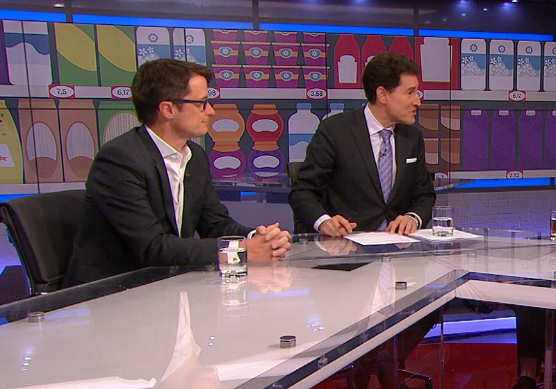 Steve Paikin (right) on the Agenda