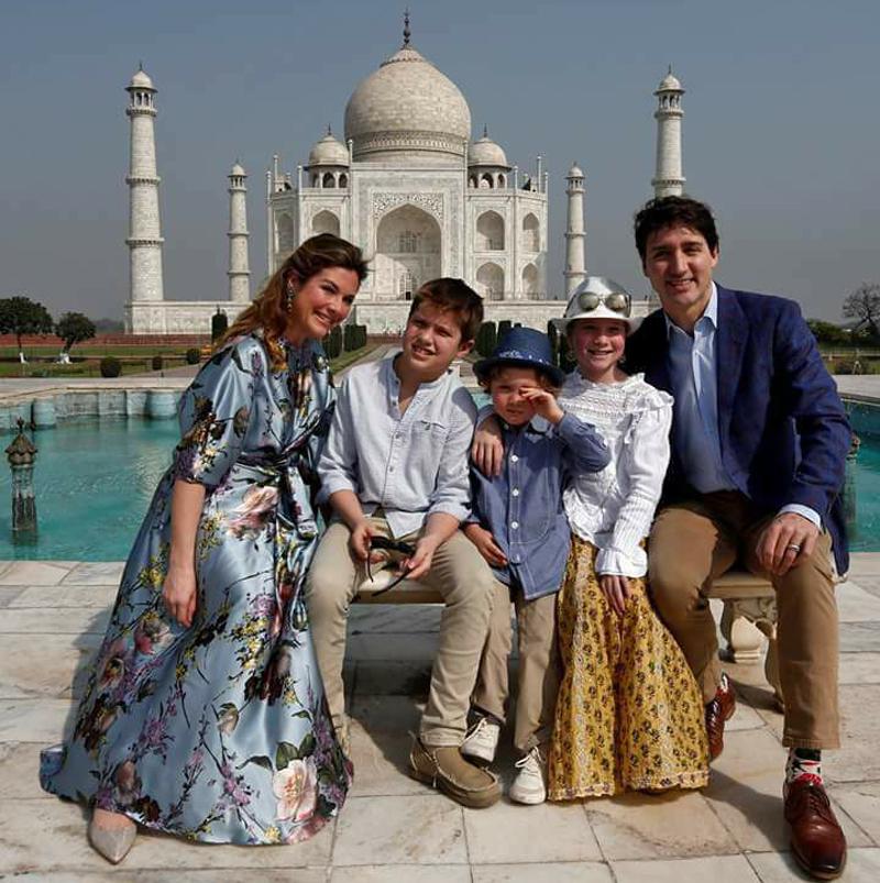 Trudeau at Taj Mahal