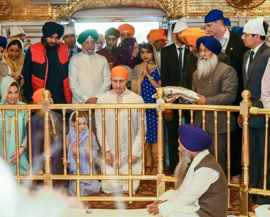 Trudeau at the Golden temple