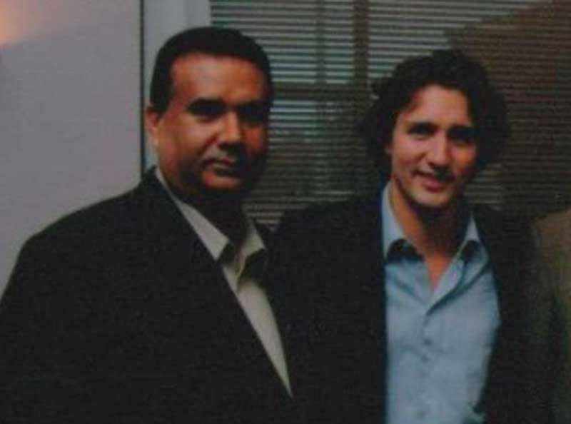 atwal with Trudeau