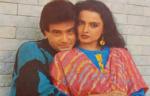 Jeetendra with actress Rekha