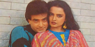 Jeetendra with actress Rekha