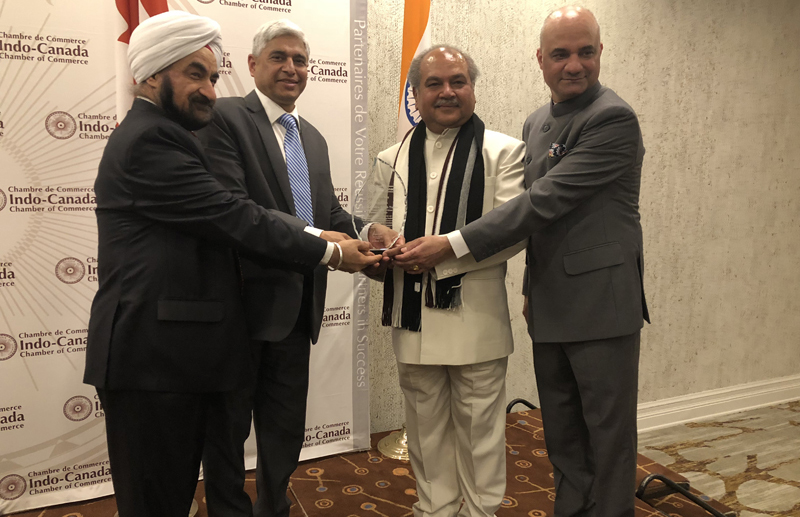Narendra Singh Tomar honoured in Toronto
