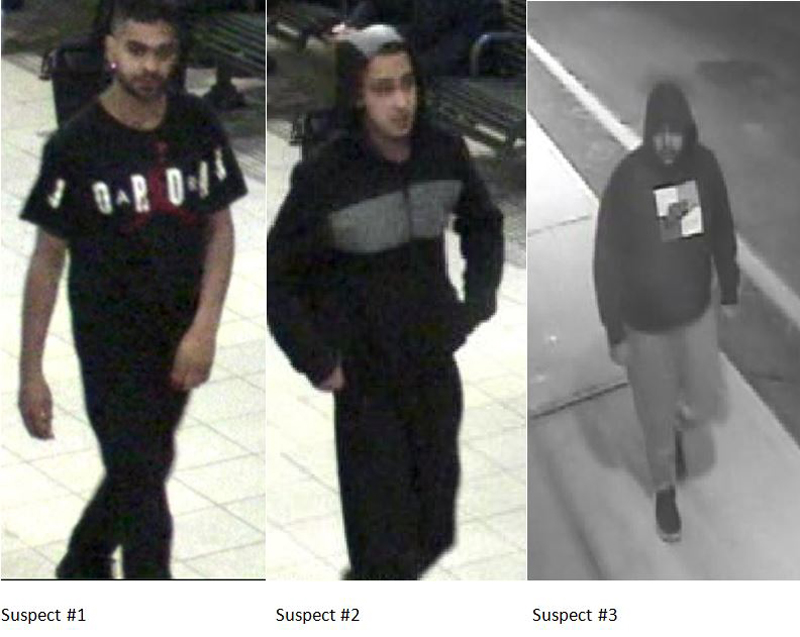 Three suspects in attack on autistic man in Mississauga.