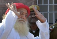 Rapist godman Asaram Bapu who has been jailed for life.