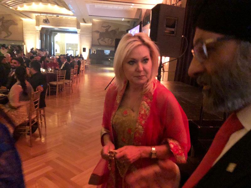 Mississauga mayor Bonnie Crombie at Sikh Foundation gala