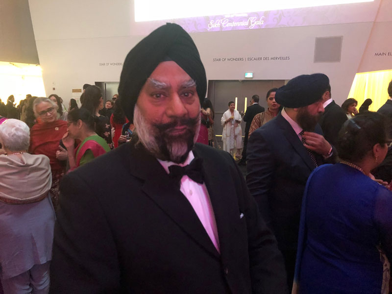 Peel Police Board chief Amrik Singh Ahluwalia at the Sikh Foundation gala.