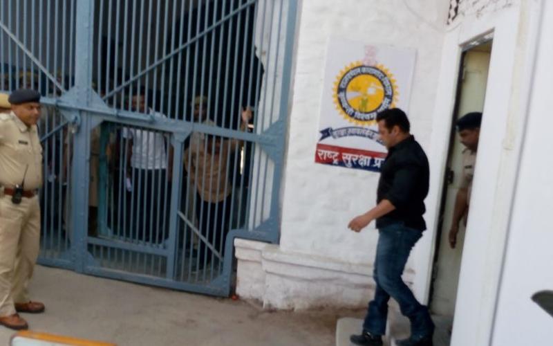 Salman Khan being taken to jail
