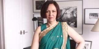 Shannon Skinner in sari