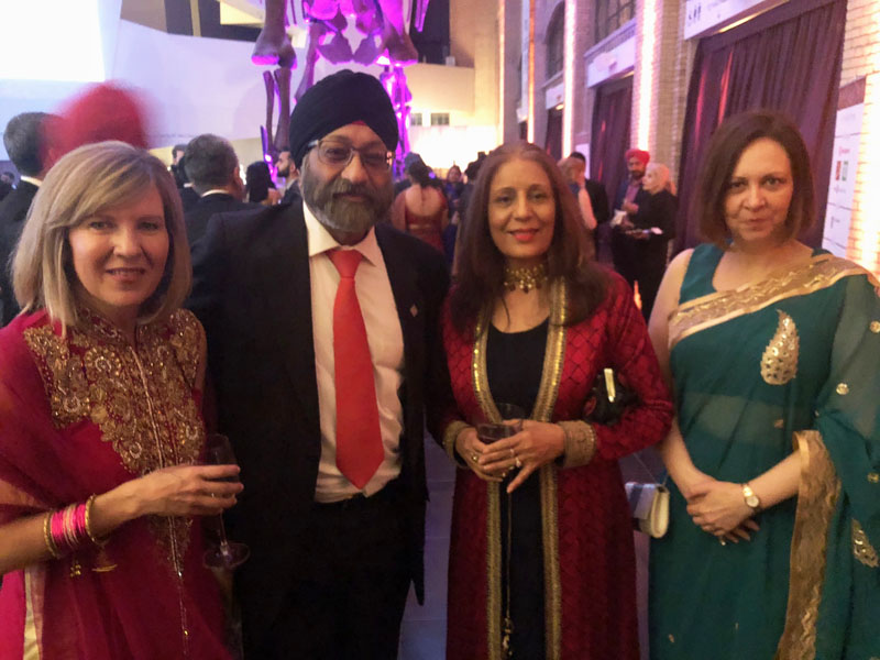 SkyLink founder Surjit Babra and others at Sikh Foundation of Canada gala in Toronto.