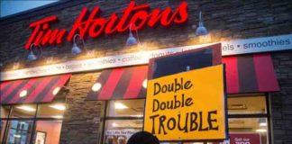 Tim Hortons double double trouble