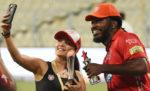 Actress Preity Zinta with Chris Gayle