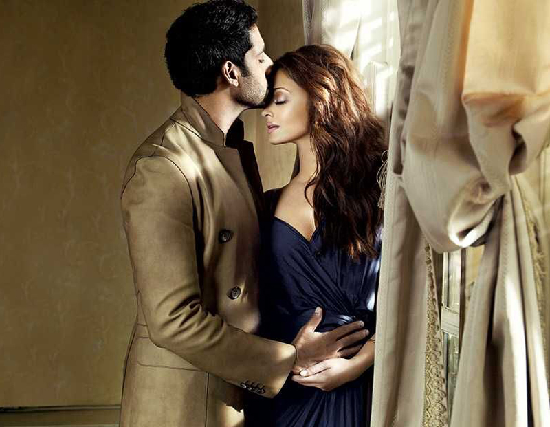 Aishwarya with husband Abhishek