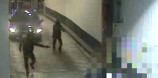 Footage of the shooting of man in downtown Toronto
