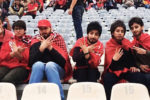 Iranian women disguised as men to watch a soccer match