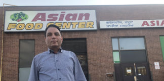 Mejor S. Natt at his Asian Food Center in Etobicoke.