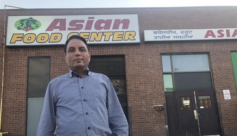 Mejor S. Natt at his Asian Food Center in Etobicoke.